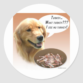 Golden retriever Turquie Sticker Rond
