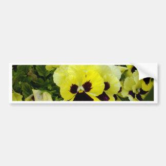 Golden_Yellow_Pansies, _ Autocollant Pour Voiture