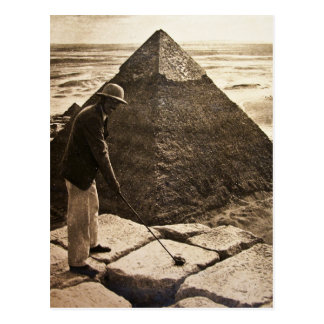 Golf à la sépia de pyramide modifiée la tonalité cartes postales