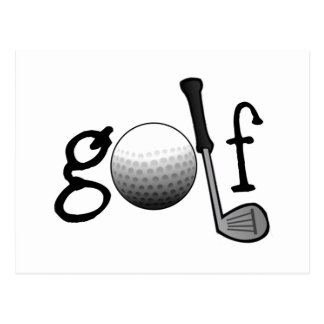 Golf avec le club et la boule cartes postales