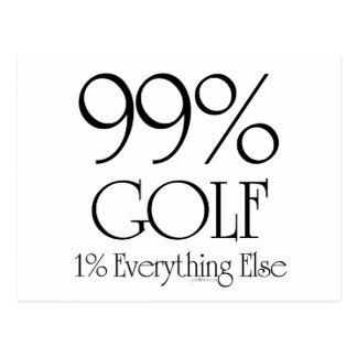 Golf de 99% carte postale