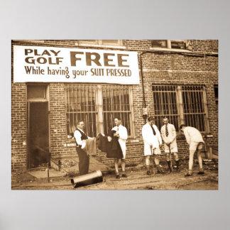 Golf de jeu libre (tout en faisant presser votre c posters