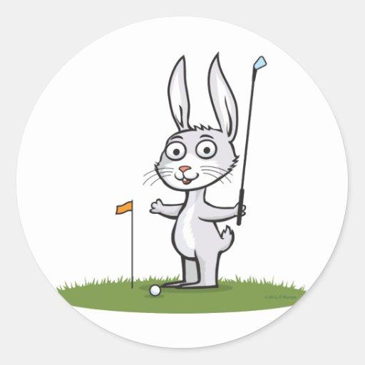 Golf de lapin autocollants ronds