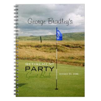 Golf - livre d'invité personnalisé de partie de carnets