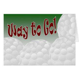 Golf - manière d'aller ! Congrats ! Impressionnant Cartes