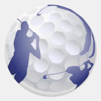 Golf, nom de coutume de passe-temps de sport sticker rond