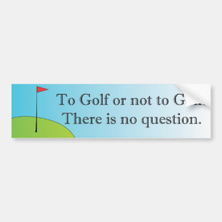 Golf ou pour ne pas jouer au golf l'adhésif pour p autocollant de voiture