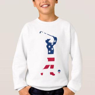 Golfeur d'Américain de golf des Etats-Unis Sweatshirt
