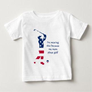 Golfeur d'Américain de golf des Etats-Unis T-shirt Pour Bébé