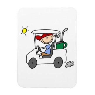 Golfeur dans le chariot de golf magnets souples