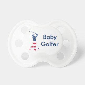 Golfeur de drapeau américain de golf des tétine