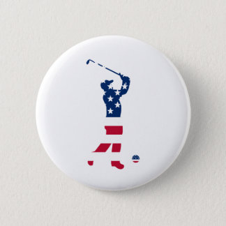 Golfeur de drapeau de l'Amérique de golf des Badge