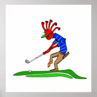 Golfeur de Kokopelli Posters