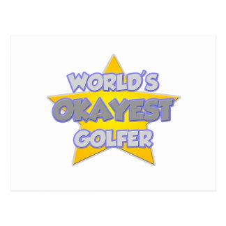 Golfeur d'Okayest du monde. Plaisanterie Carte Postale