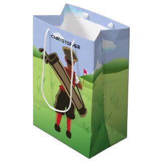 Golfeur personnalisé par amusement sur le terrain sac cadeau moyen