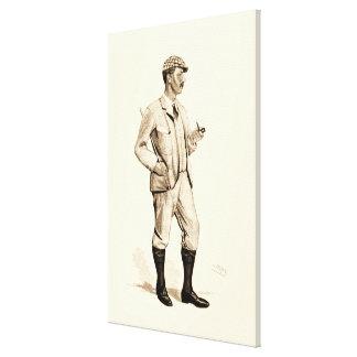 Golfeur vintage avec le tuyau et les bottes de toile