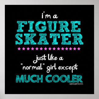 Golly filles - je suis un patineur artistique affiches