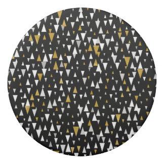 Gomme Art moderne de triangle - or noir