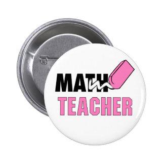 Gomme drôle de rose de professeur de maths badges