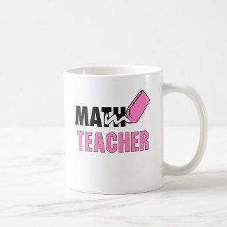 Gomme drôle de rose de professeur de maths mug