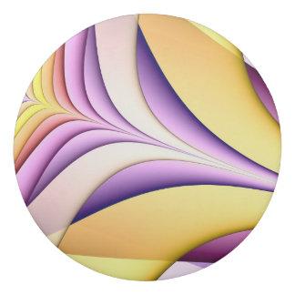 Gomme Fractale colorée par pastel. Jaune, rose, pourpre