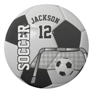Gomme Noir et blanc personnalisez le ballon de football