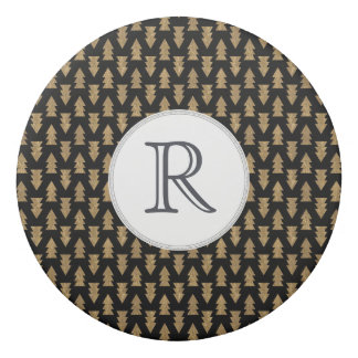Gomme Noir et motif de feuille d'or