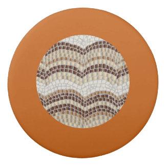 Gomme ronde de mosaïque beige ronde