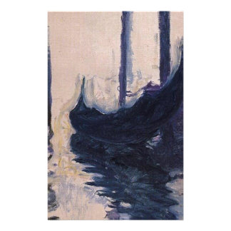 Gondole à Venise par Claude Monet Papier À Lettre Personnalisé