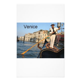 Gondole de l'Italie Venise (St.K) Papier À Lettre Personnalisable