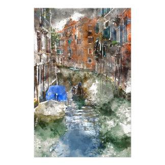 Gondole de Venise Italie Papiers À Lettres