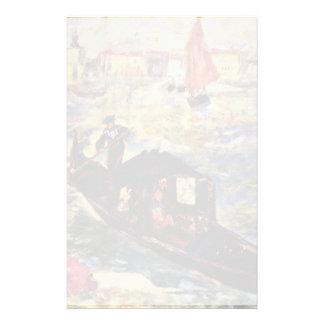 Gondole sur le canal grand, Venise par Pierre-Augu Papier À Lettre Personnalisé