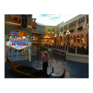 Gondole vénitienne de Las Vegas Carte Postale