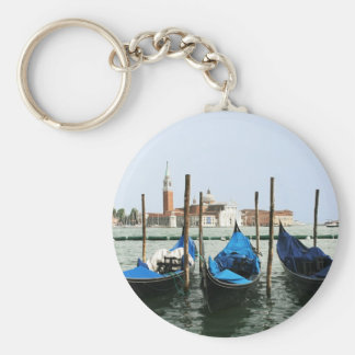 Gondoles de Venise Porte-clé Rond