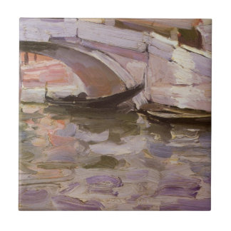 Gondoles par Sargent, beaux-arts victoriens Carreau