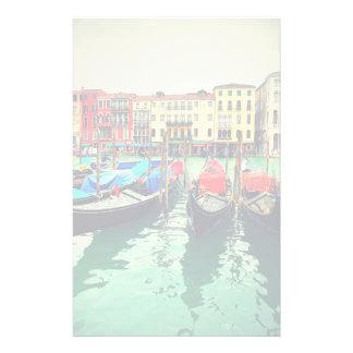 Gondoles sur le canal grand, Venise, Italie. Rétro Papier À Lettre Customisable