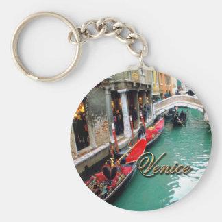 Gondoles sur un canal vénitien porte-clés