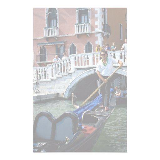 Gondolier chanteur traditionnel, Venise, Italie Papier À Lettre Personnalisable