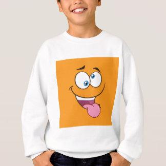 Goofy idiot Emoji carré Sweatshirt