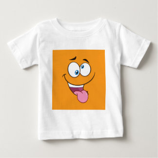 Goofy idiot Emoji carré T-shirt Pour Bébé