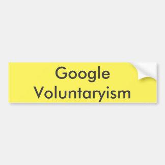 Google Voluntaryism Autocollant Pour Voiture