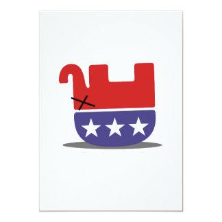 GOP mort d'éléphant Carton D'invitation 12,7 Cm X 17,78 Cm