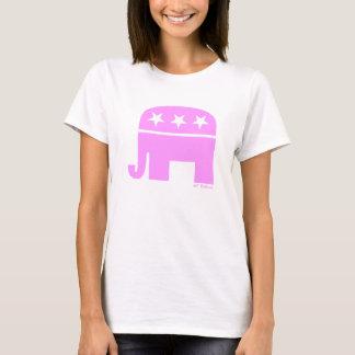 GOP républicain fier d'éléphant rose de femme T-shirt