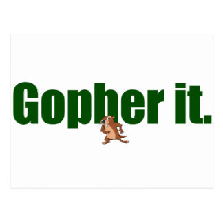 Gopher il carte postale