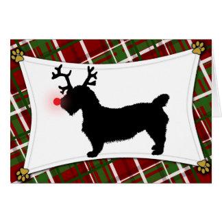 Gorge de carte de Noël de renne d'Imaal Terrier