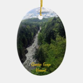 Gorge de Quechee, Vermont Ornement Ovale En Céramique