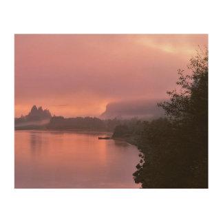 Gorge du fleuve Columbia, lever de soleil, OU Impression Sur Bois