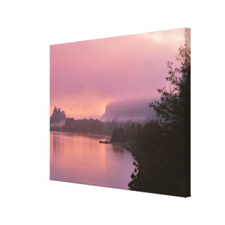 Gorge du fleuve Columbia, lever de soleil, OU Toile