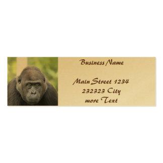 gorille amical carte de visite petit format