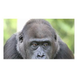 gorille amical carte de visite standard